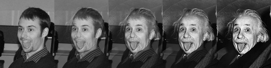 developer morphing into einstein