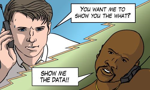 """Jerry Maguire is asked to """"Show Me The Data"""""""