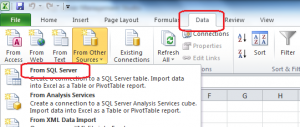 Using Excel to query the data