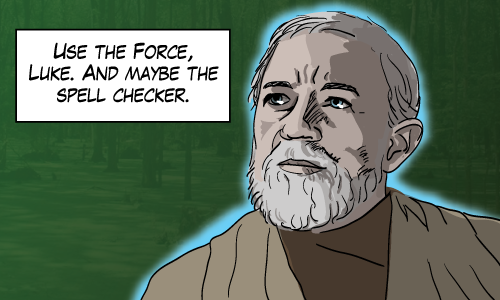 Grammar, the one thing that Obi Wan didn't learn from Yoda