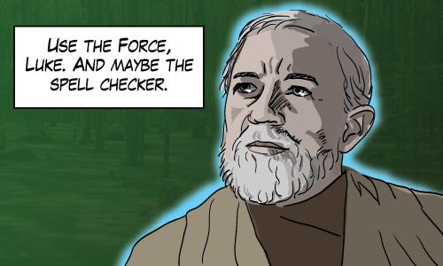 Grammar, the one thing that Obi Wan didn't learn from Yoda